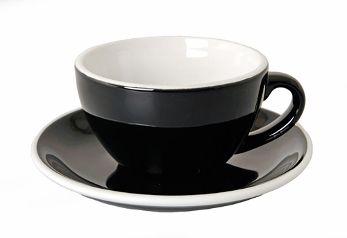 Acme Black Cappuccino Cup & Saucer Set of 6