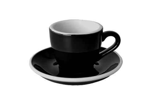 Acme Black Espresso Cup & Saucer Set of 6