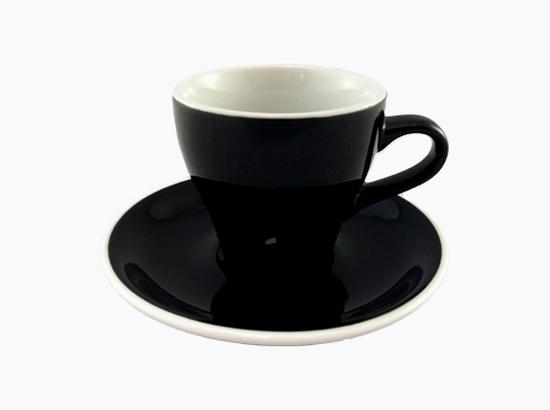 Acme Black Long Black Cup & Saucer Set of 6
