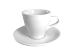 Acme White Long Black Cup & Saucer