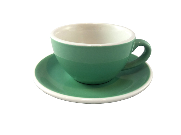 Acme Green Cappuccino Cup & Saucer Set of 6