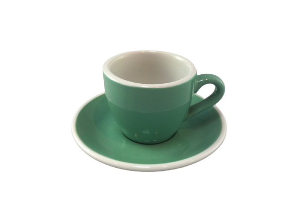 Acme Green Espresso Cup & Saucer Set of 6