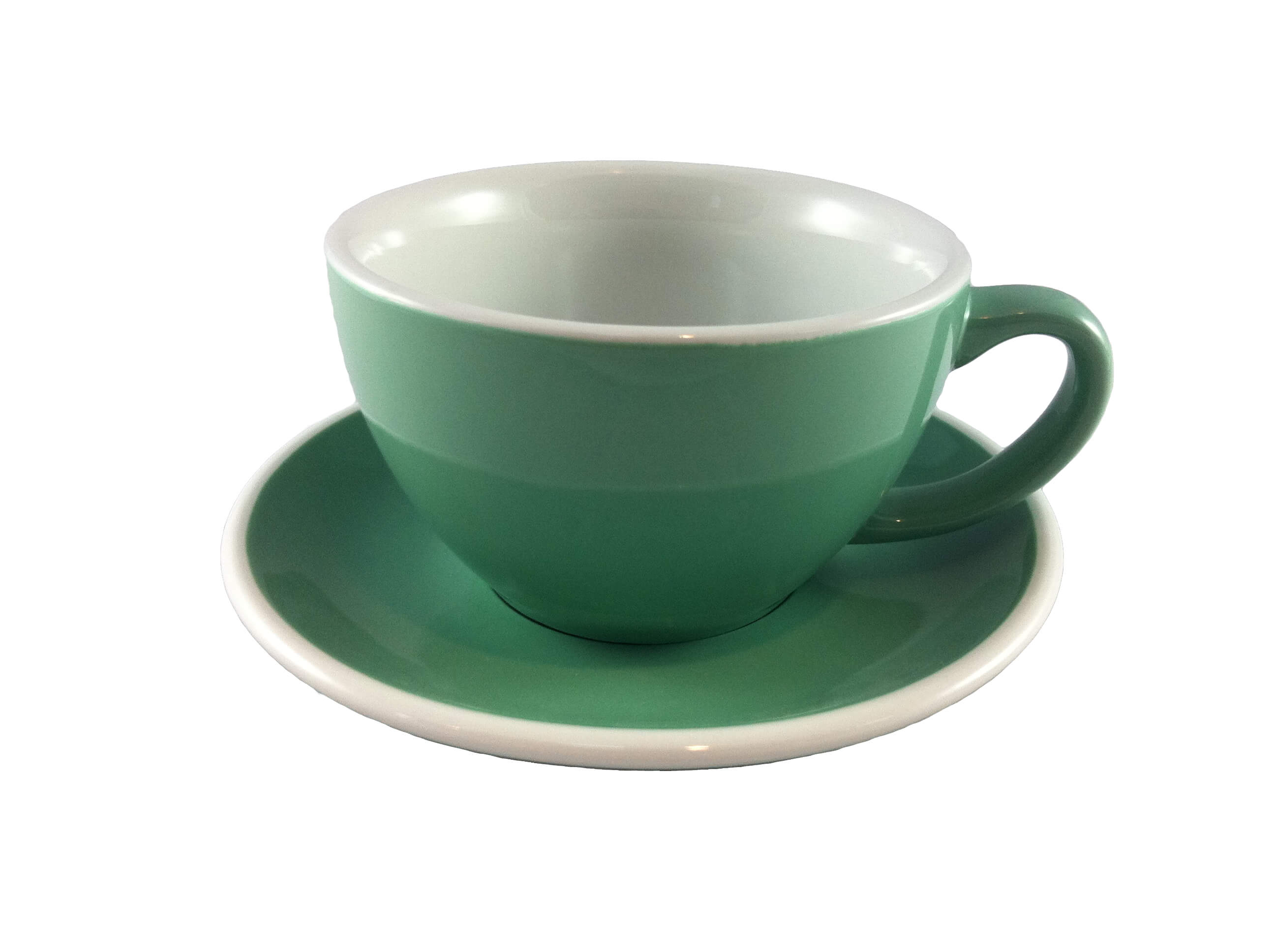 Acme Green Latte Cup & Saucer Set of 6