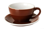 Acme Brown Latte Cup & Saucer Set of 6