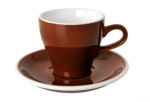 Acme Brown Long Black Cup & Saucer Set of 6