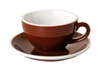 Acme Brown Cappuccino Cup & Saucer Set of 6