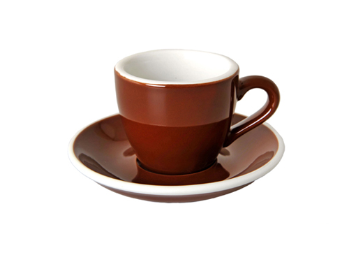 Acme Brown Espresso Cup & Saucer Set of 6