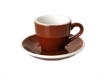 Acme Brown Espresso Cup & Saucer